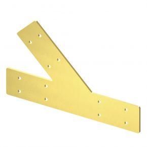 3-weg T-stuk 45⁰ lang Messing - Brackets