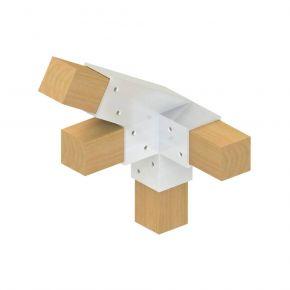4-weg koppeling 30° links - Topclamp Wood Aluminium