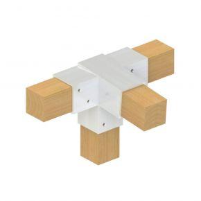 4-weg koppeling 5° midden scherp - Topclamp Wood Aluminium