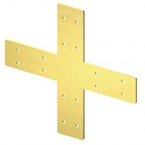 4-weg 90⁰ kruis lang Messing - Brackets