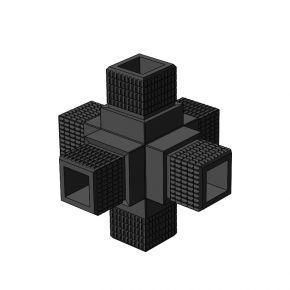 6-weg 001 vierkant - Framebits