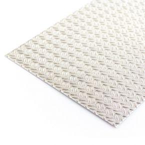 Aluminium designplaat rijstekorrelplaat