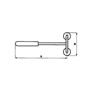 Dubbele magneettang met afdrukmachine