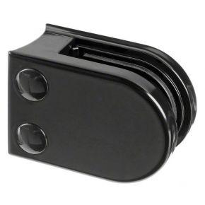 Glasklem ovaal buis zamak zwart (RAL 9005)