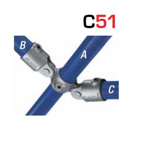 Kee Klamp Scharnierende Fittingen Type C51