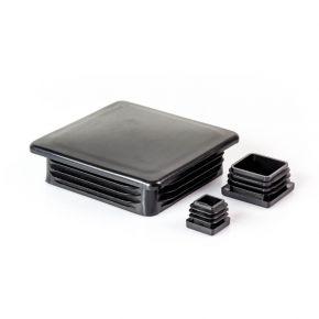 Kunststof inslagdop vierkant zwart
