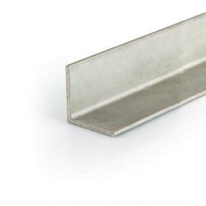 RVS hoekprofiel AiSi 304 warmgewalst gelijkzijdig