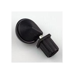 Zwenkwielen verchroomd zwenkend deel | Wiel zwart nylon | 51mm - HandyTube